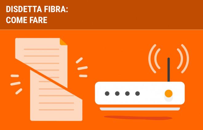 Disdetta fibra ottica: come fare, costi e tempi