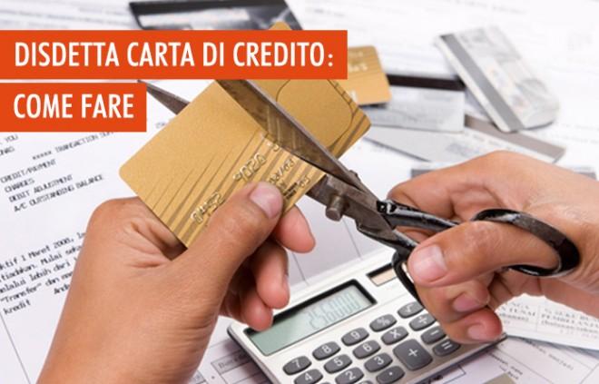 Disdetta della carta di credito: come fare