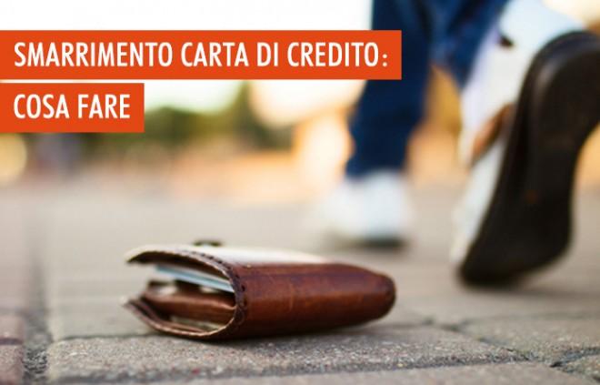 Carta di credito: cosa fare in caso di smarrimento