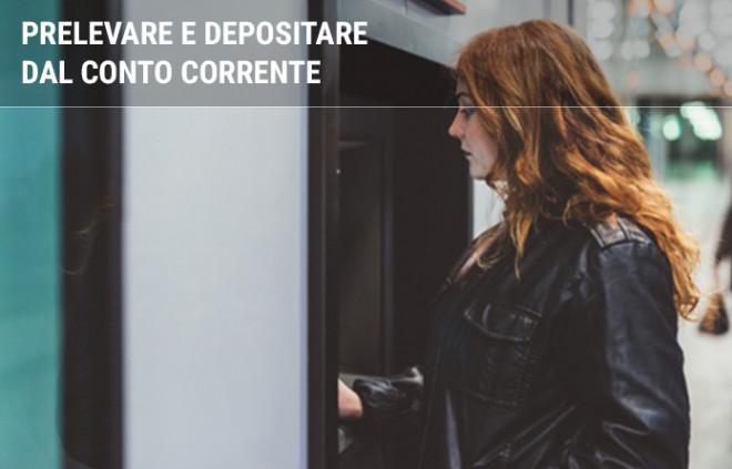 Prelevare e depositare dal conto corrente: limiti sul prelievo, versamenti e pagamento in contanti