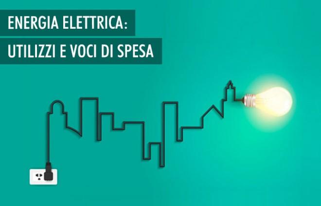 I principali utilizzi e le voci di spesa dell'energia elettrica