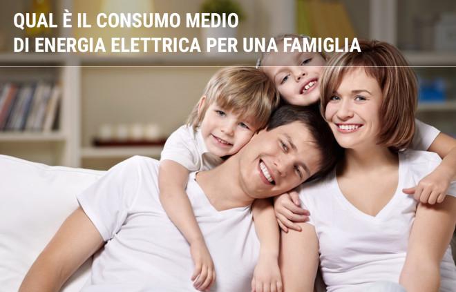 Qual è il consumo medio di energia elettrica per una famiglia di 2, 3 o 4 persone?