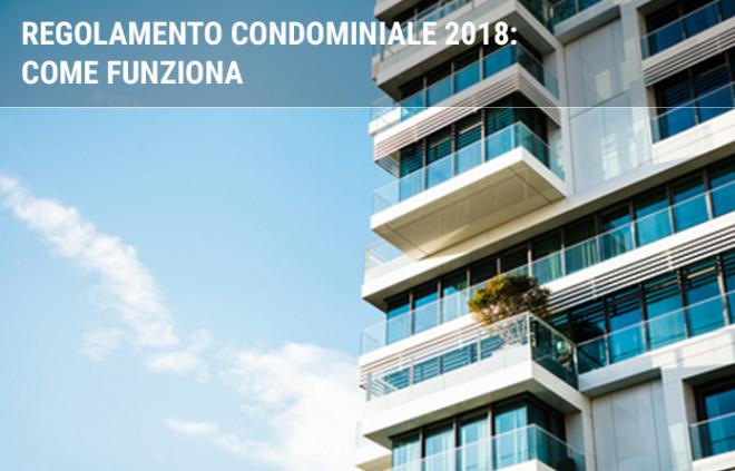 Regolamento condominiale 2020: come funziona