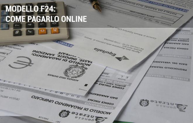 Modello F24: come pagarlo online