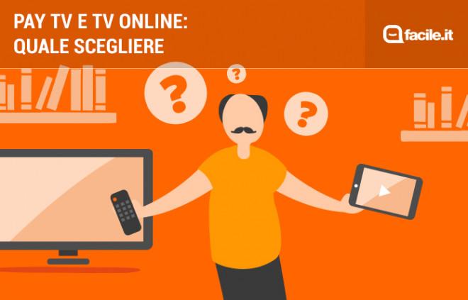 Pay TV e TV online: differenze, vantaggi e svantaggi