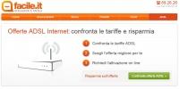 Facile.it lancia la comparazione di tariffe ADSL: Con la comparazione si possono risparmiare fino a 400 euro l'anno.